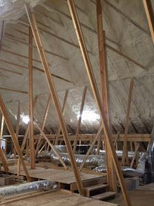 spray foam attic