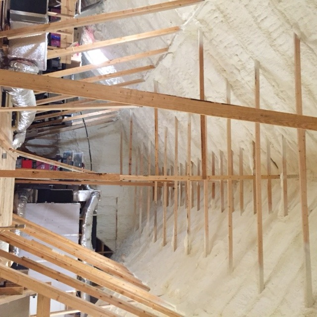 Spray Foam Attic 3 (spray Foam Insulation Applied To Roof Decking ...