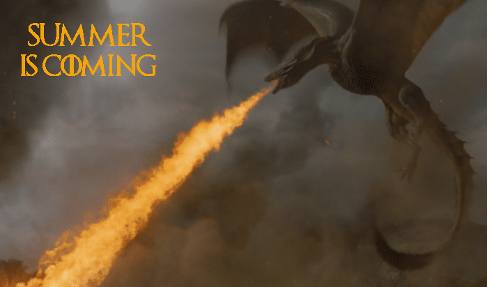 summer is coming - dragon blowing Alabama summer fire