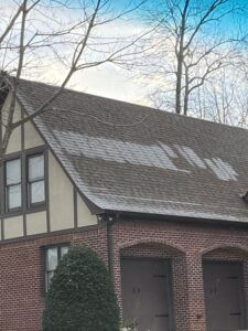 roof with frost patches